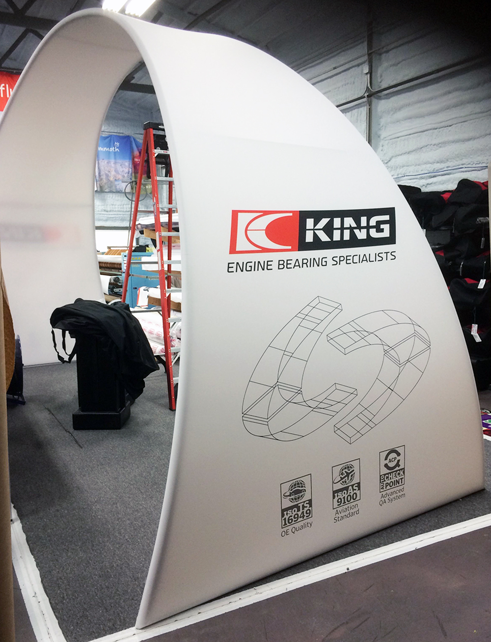 King Bearing Large Arch Fabric Structure