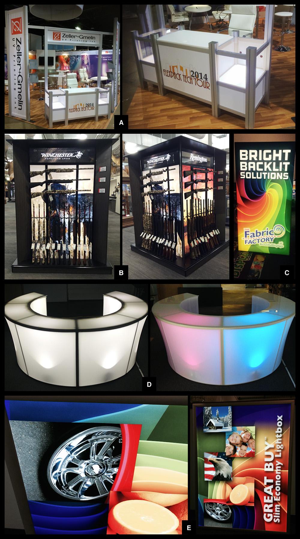 Backlit displays and graphics