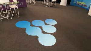 Beautiful Displays custom printed logo floor graphic for Open House 2016 and 25th Anniversary event