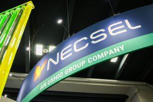 Ushio Large Fabric Tradeshow Hanging Sign With Logo